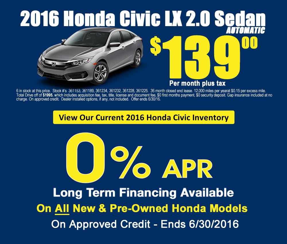 2016 Honda Civic Orange County