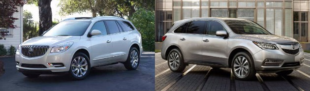 2016 Buick Enclave vs Acura MDX