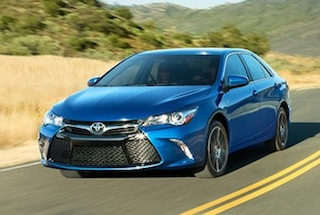 Exterior of the 2016 Toyota Camry