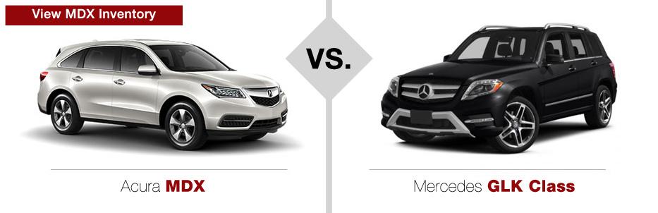 Acura MDX vs Mercedes-Benz GLK Class