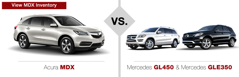 Acura MDX vs Mercedes-Benz GL450 & Mercedes-Benz GLE350