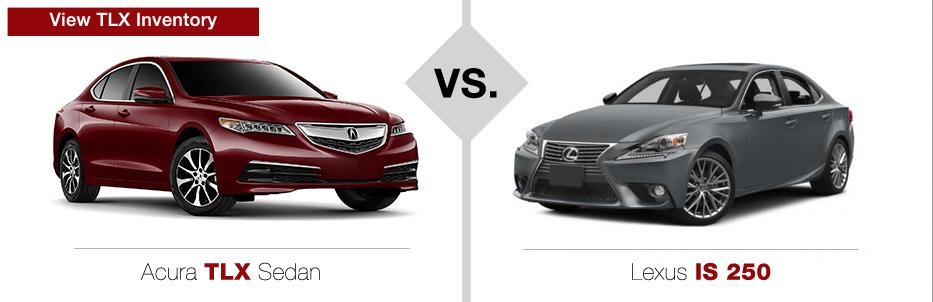Acura TLX vs Lexus IS 250