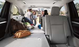 Passenger space in the new Toyota Highlander