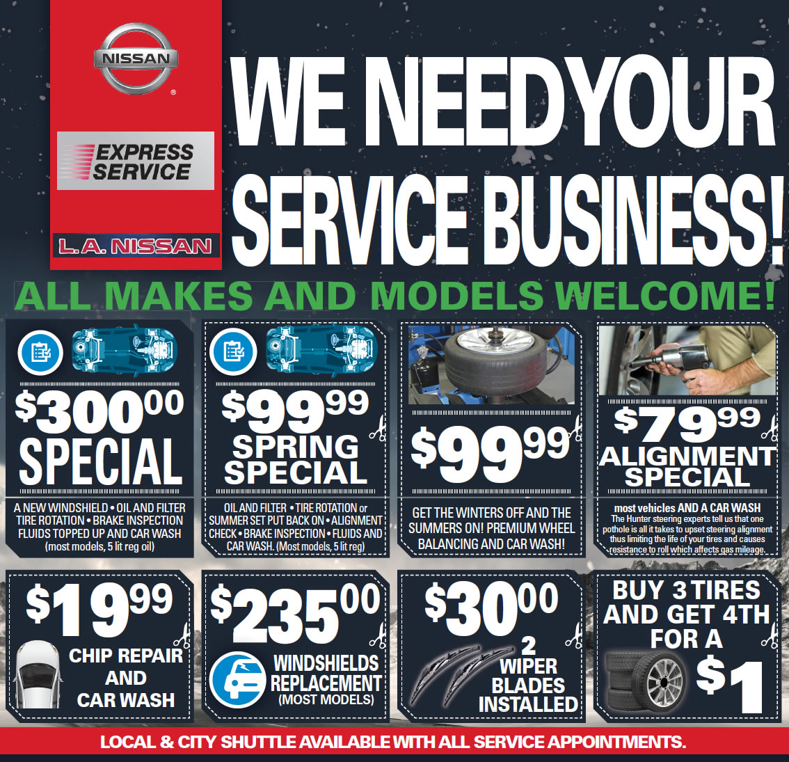 Nissan Service Specials in Edmonton, AB
