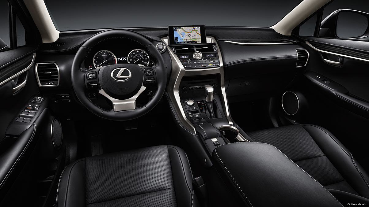 Interior View of the 2017 NX 200t