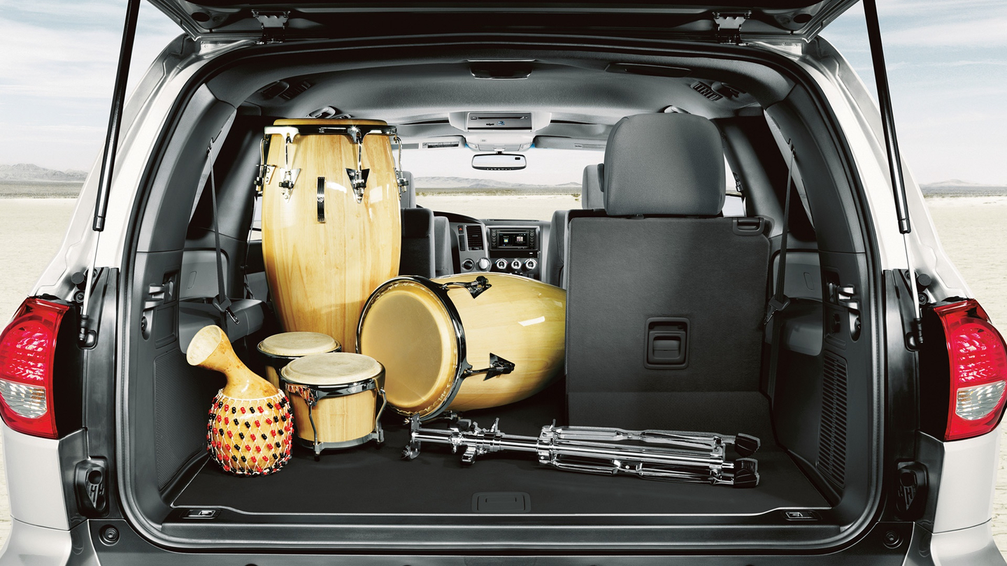 There is Plenty of Cargo Space in the 2017 Sequoia