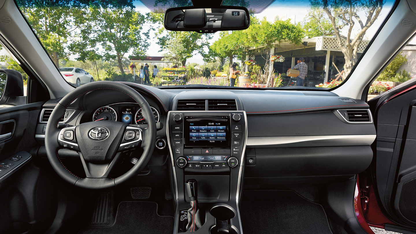Cabin of the Toyota Camry Hybrid