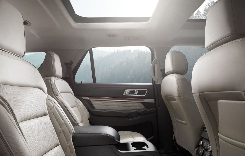Rear Seats in the 2017 Explorer